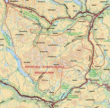 Den nya utvidgade nationalparken Dovrefjell-Sunndalsfjella